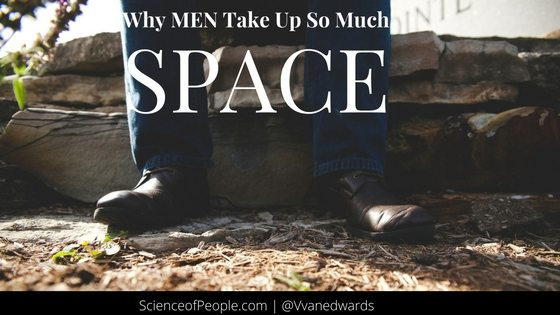 men taking up space
