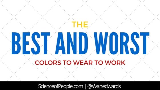 best colors to wear to work