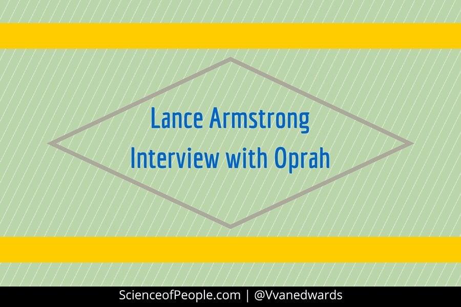 lance armstrong, oprah, lying, body language