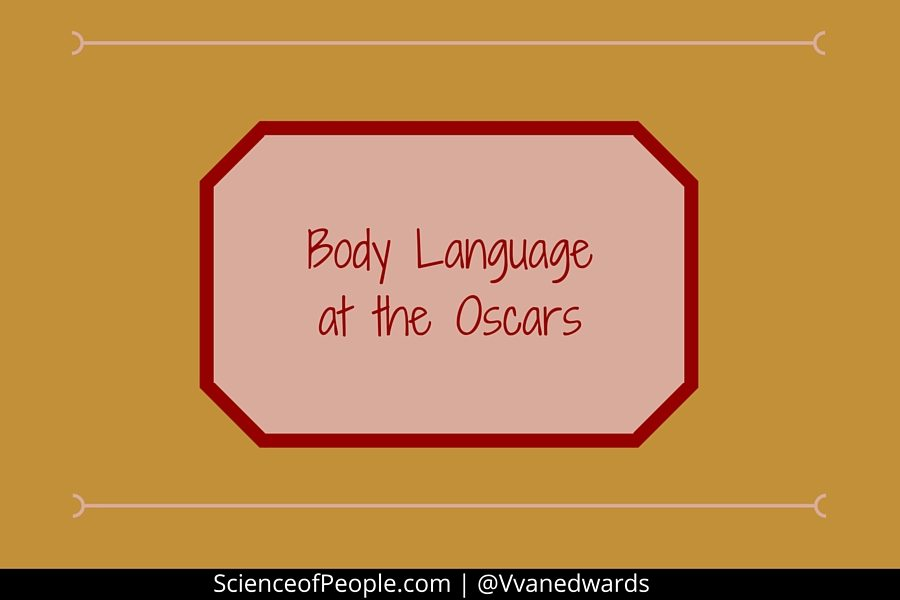 body language at the oscars