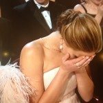 Jennifer Lawrence Embarrassed, body language at the oscars