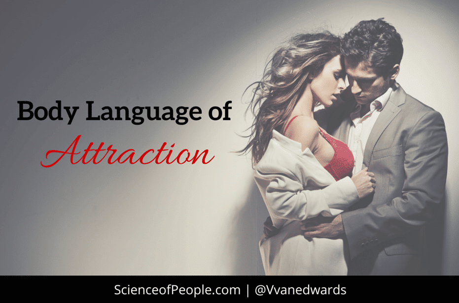 What body language shows a guy in love