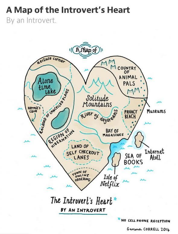 introvert, map, introvert heart
