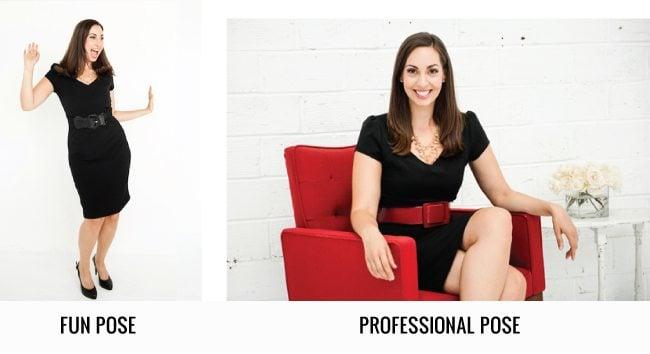 professional versus casual photos