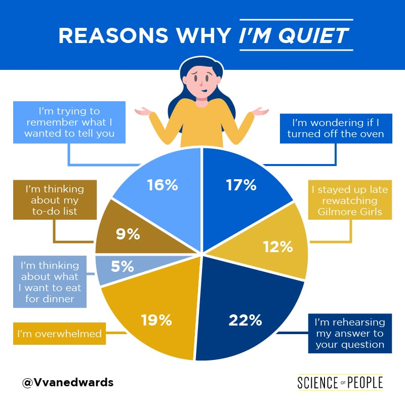 Reasons Why I'm Quiet Pie Chart