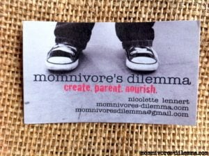 omnivores-dilemma-blog-business-card, ways to make your business card awesome