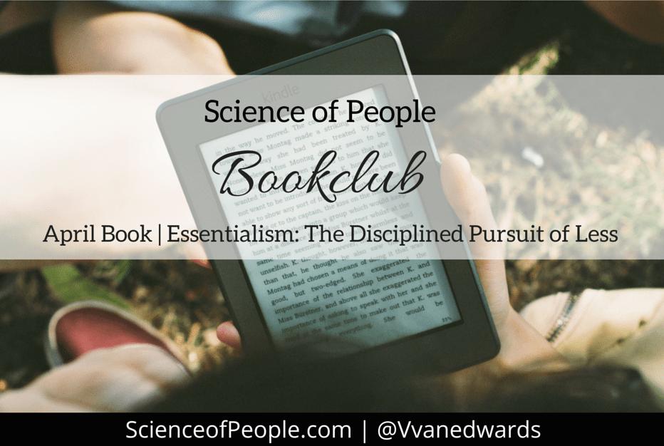 essentialism book club