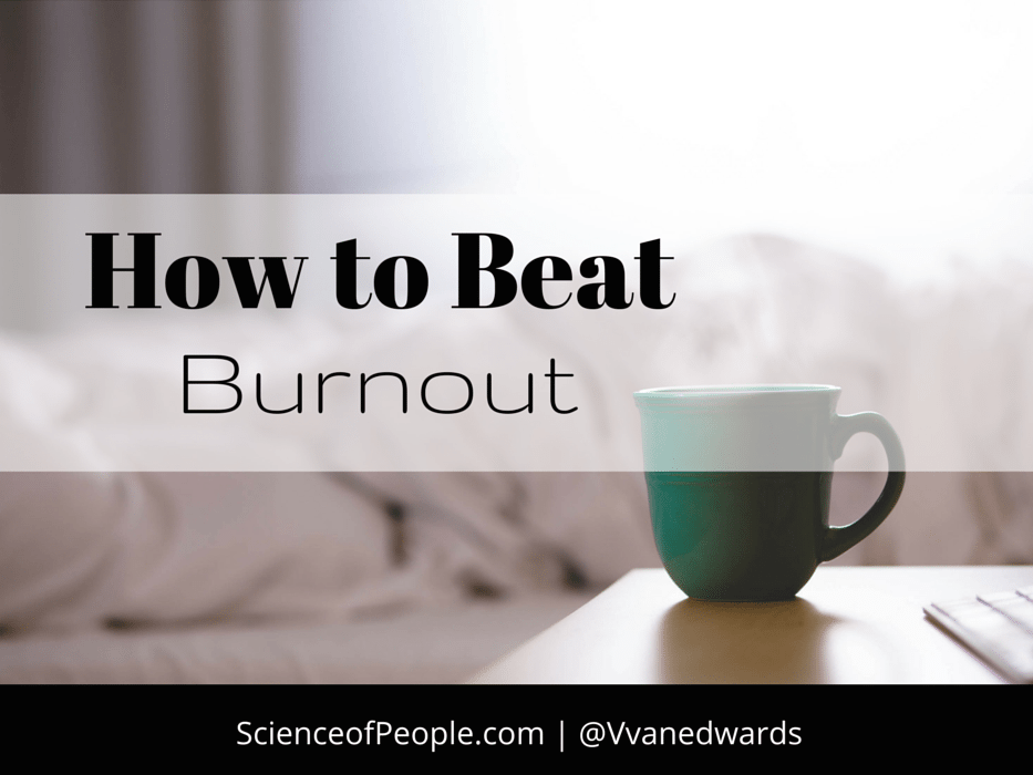 how to beat burnout, how to recover from feeling burnt out