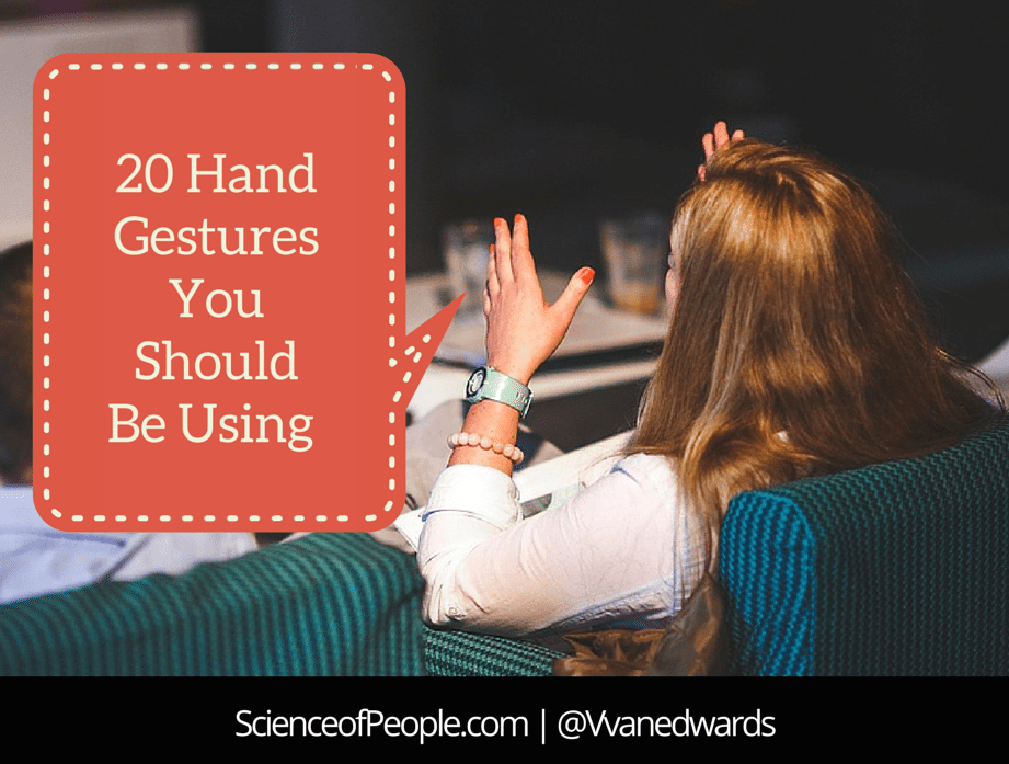20 Hand Gestures You Should Be Using and Their Meaning
