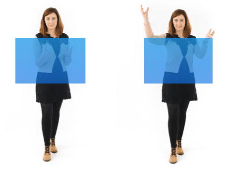 hand gesture area
