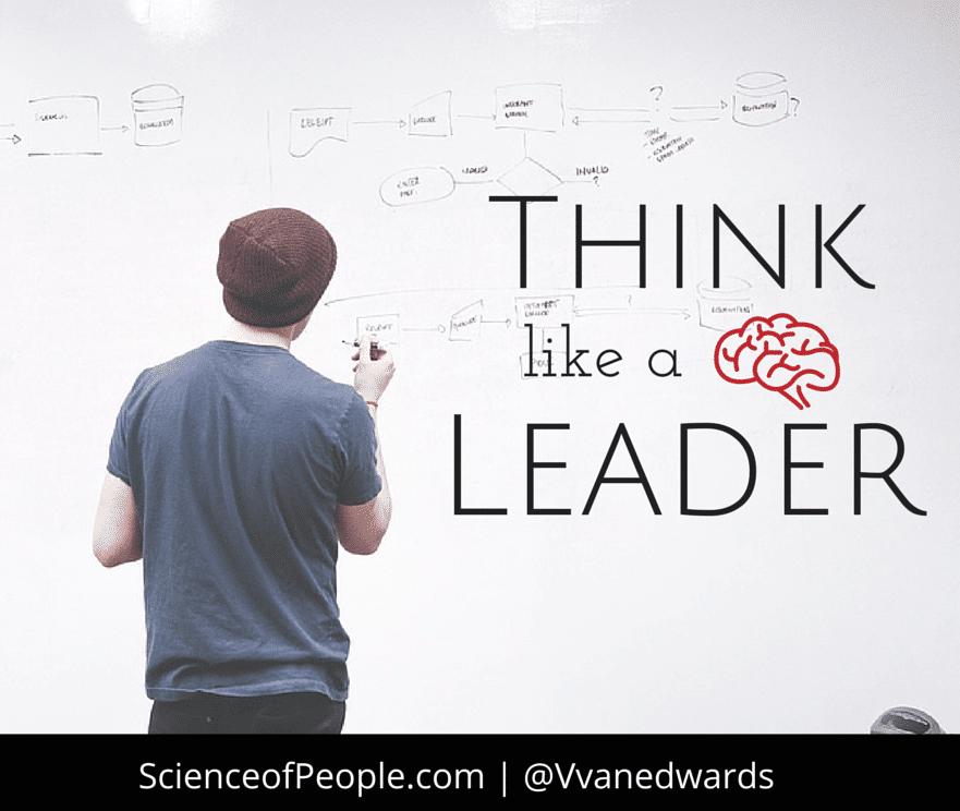 Think like a leader