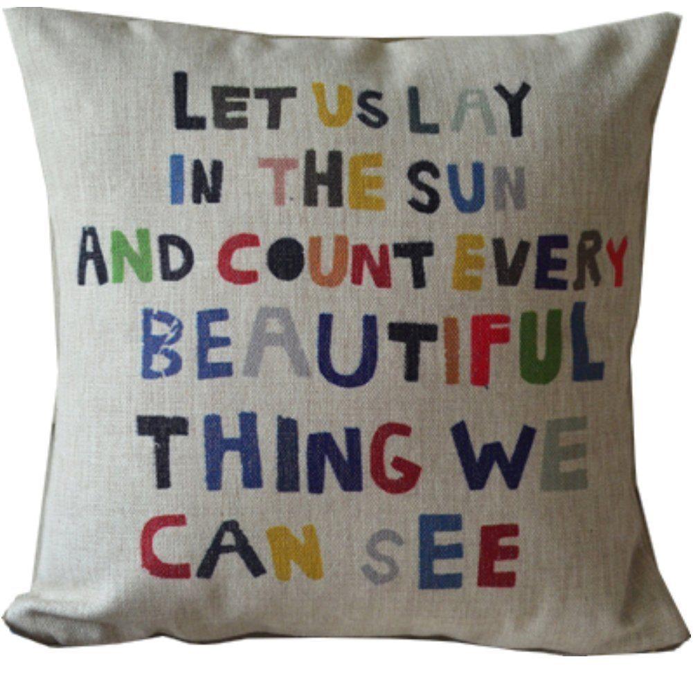 inspirational throw pillow case