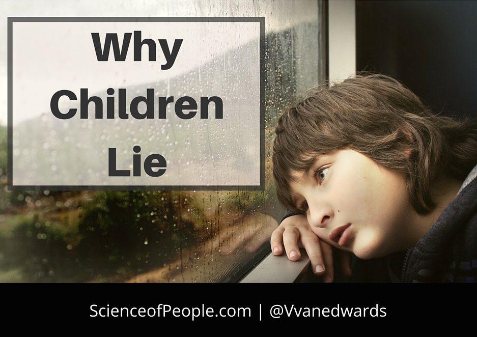 why children lie, why children lie blog post, science of why kids lie