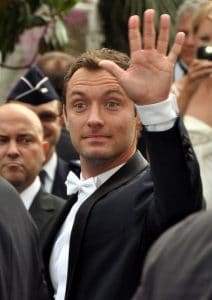 Jude Law giving the eyebrow flash