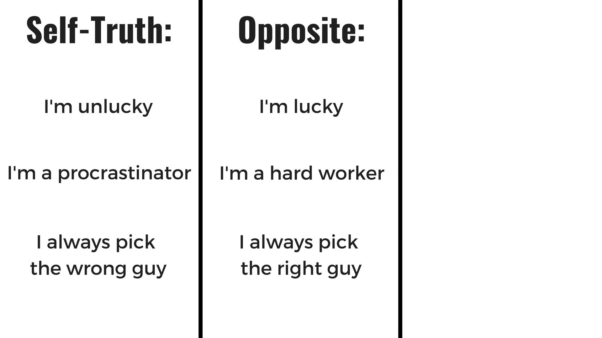 Opposite of self-thruth