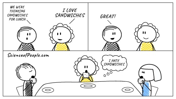 A people-pleasing comic about a girl who goes out to eat sandwiches, but hates them.