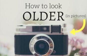 Look Older in Pictures
