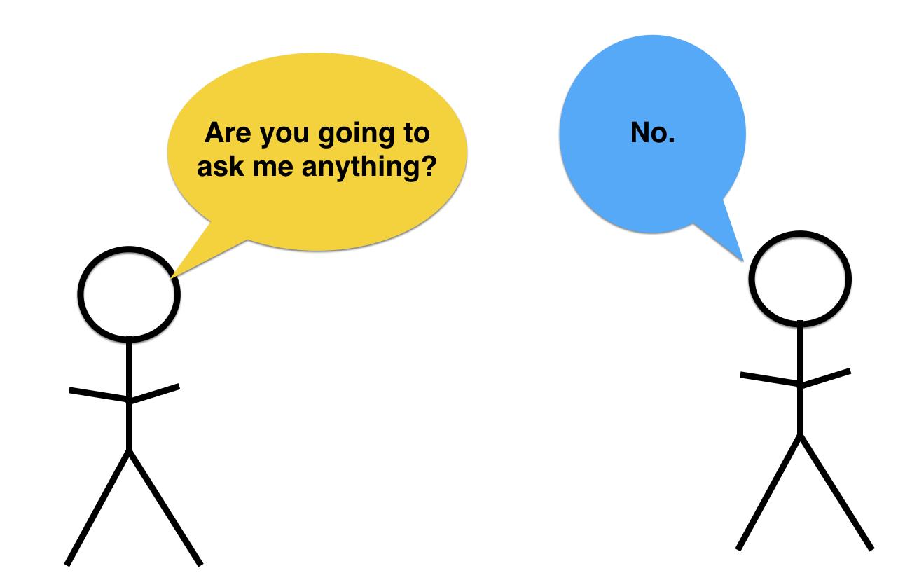 non-reciprocal conversation
