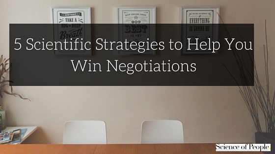 strategies to win negotiations