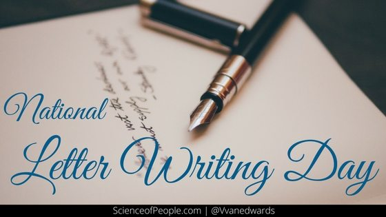 national letter writing day