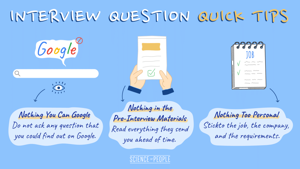Interview Question Quick Tips Infographic