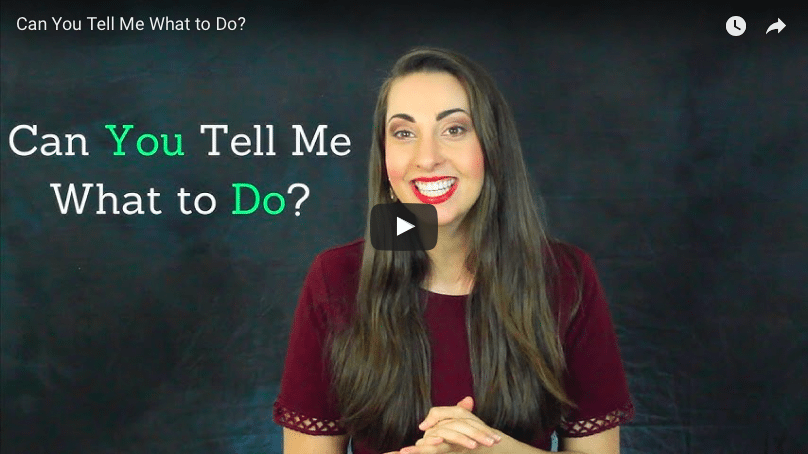Can You Tell Me What to Do? - Science of People
