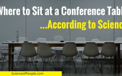 Where to Sit at a Conference Table…According to Science