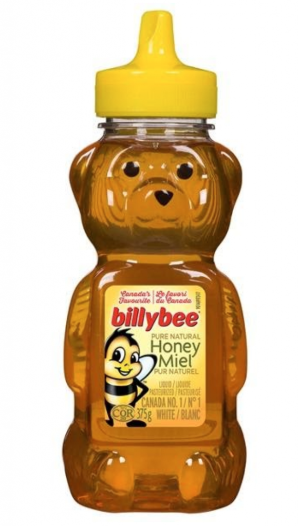 Normal honey brand billybee from the grocery store
