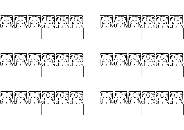 Classroom Style seating arrangement