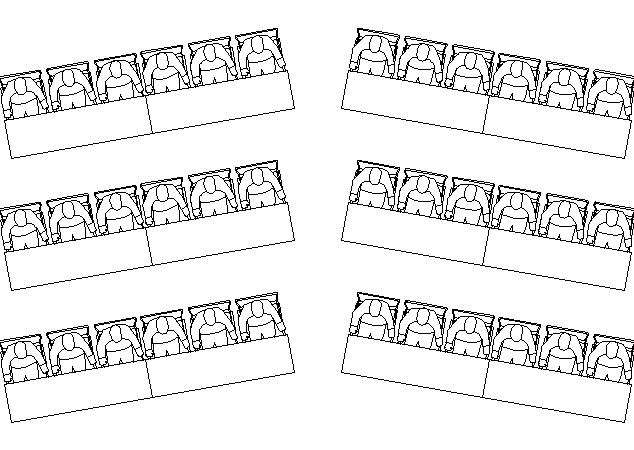 Herringbone business seating style