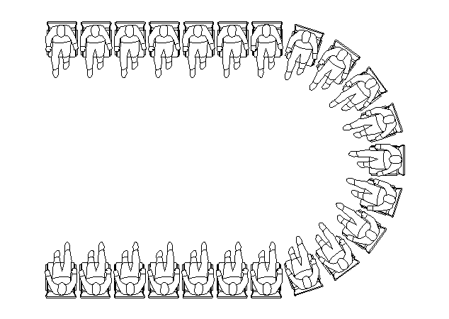 Horse Shoe sitting arrangement