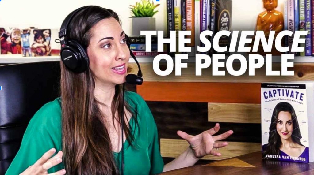 Vanessa talks on her headset