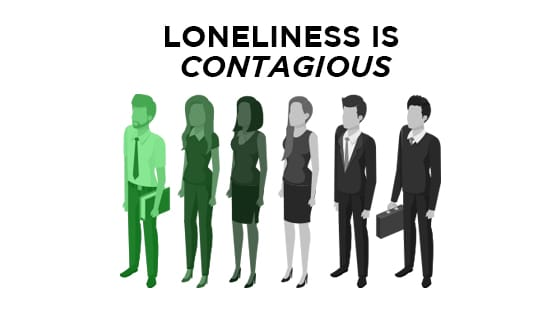 Loneliness is contagious and spreads