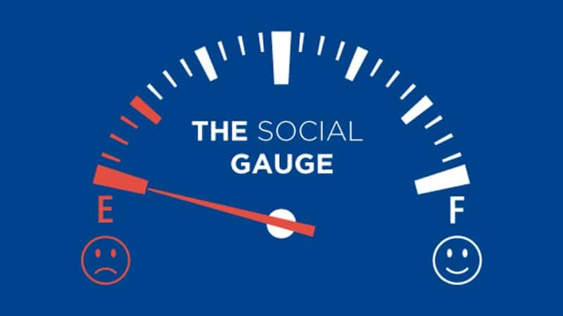 The Social Gauge needs to be recharged if you are lonely.