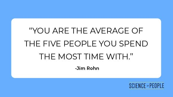 "Quote: ""You are the average of the five people you spend the most time with"" by Jim Rohn"