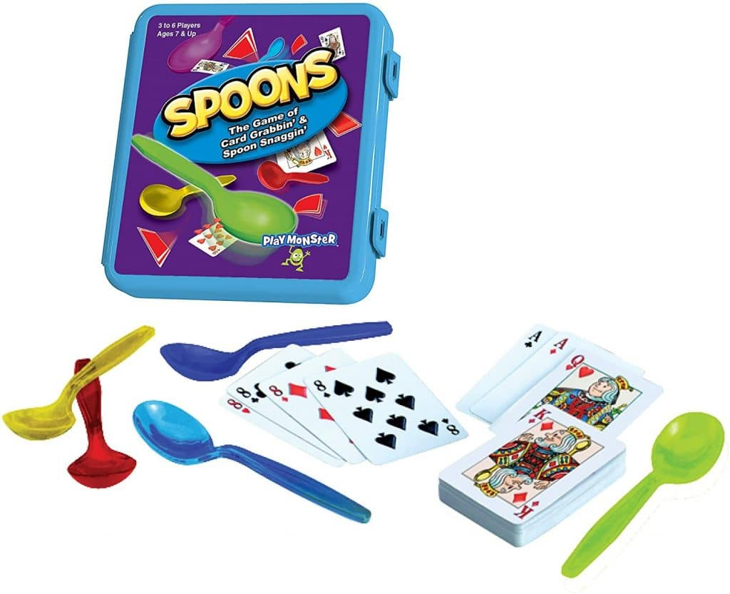 Spoons game for small groups or large groups
