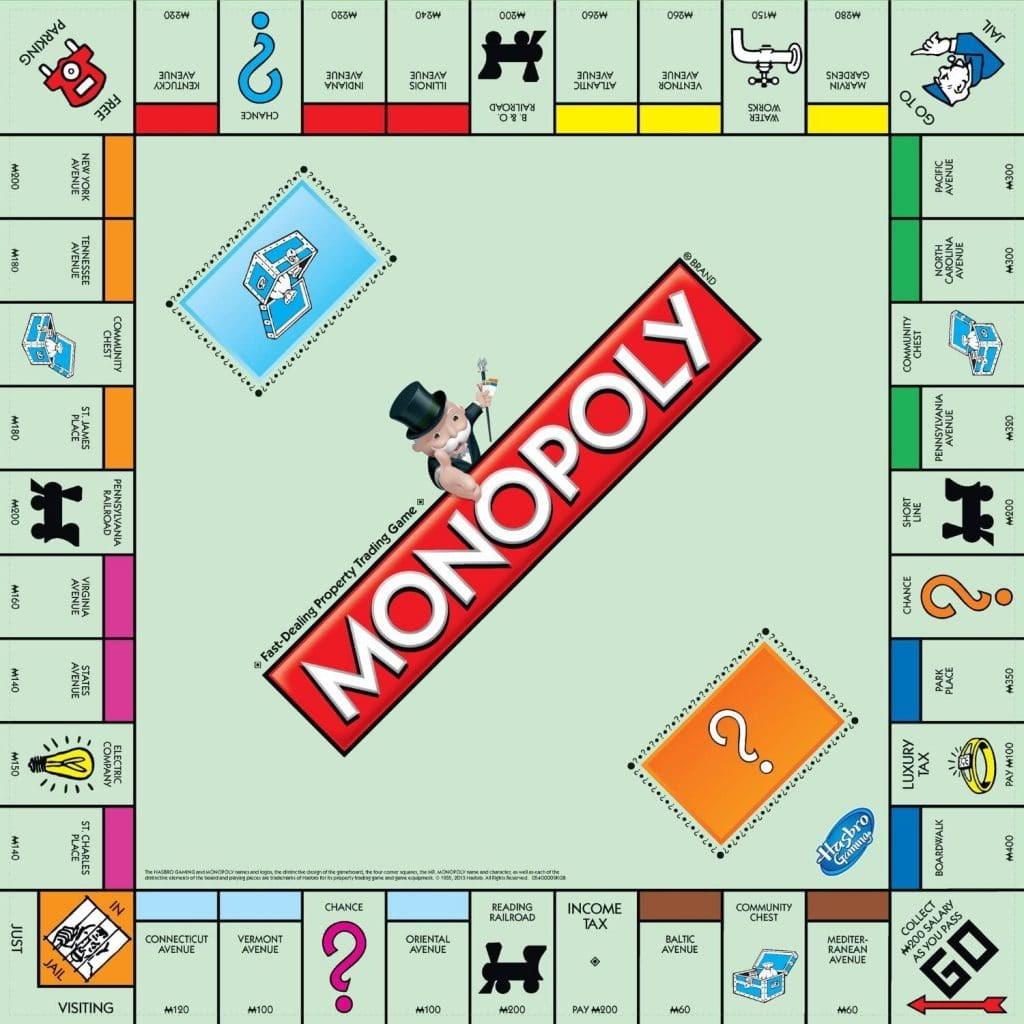 Monopoly game for families
