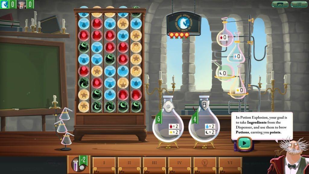 Potion Explosion digital board game