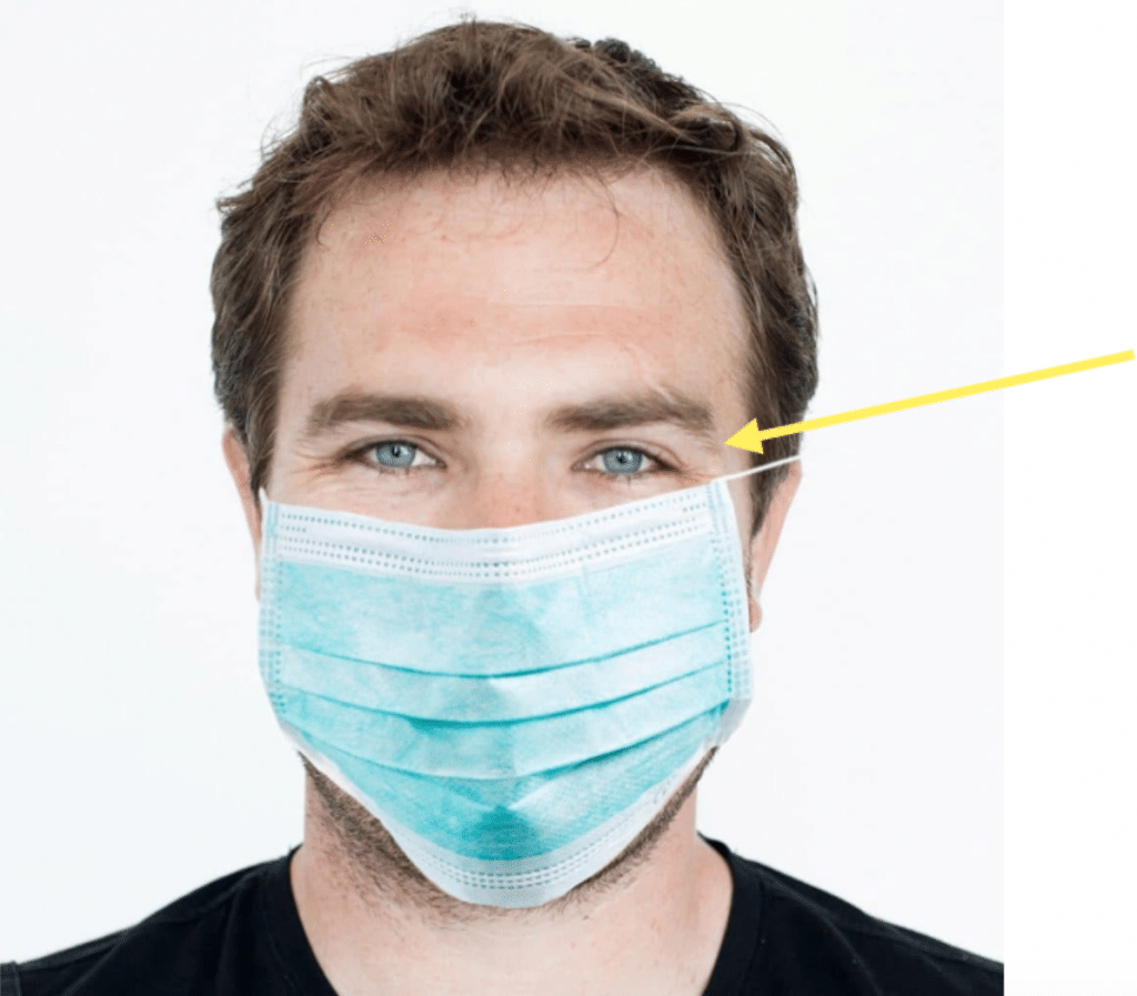 When wearing a mask, the eyes are visible. Make sure to smile with your eyes to build rapport with your patient and make them feel more comfortable.