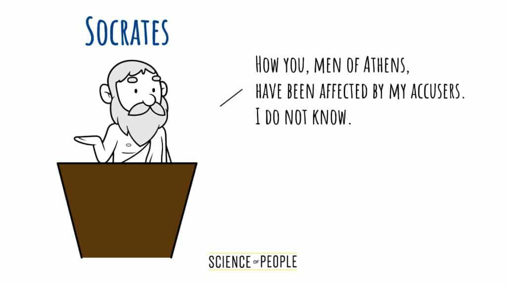 Socrates's Speech Opening Line