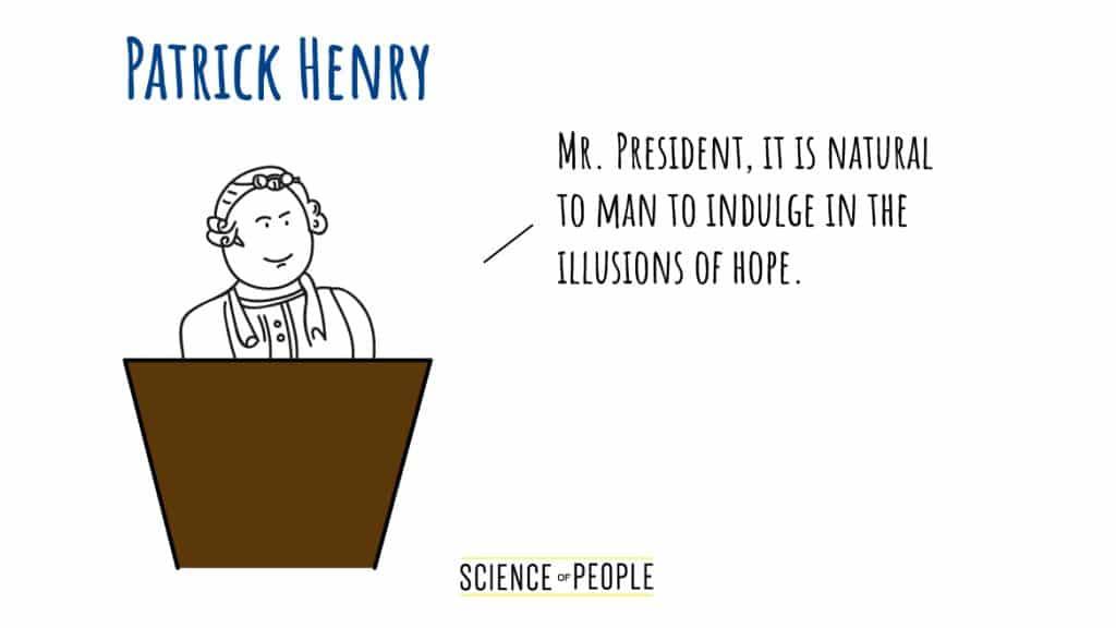 Patrick Henry's Speech Opening Line