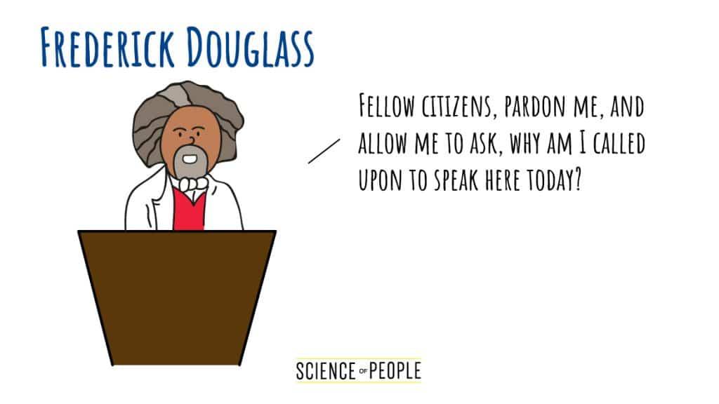 Frederick Douglas's Speech Opening Line