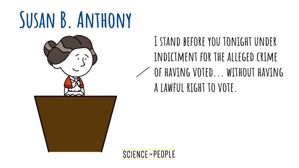 Susan B. Anthony's Speech Opening Line