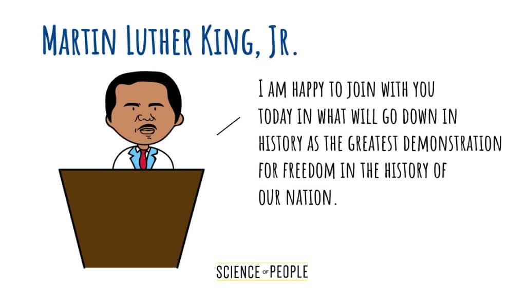 Martin Luther King, Jr.'s Speech Opening Line