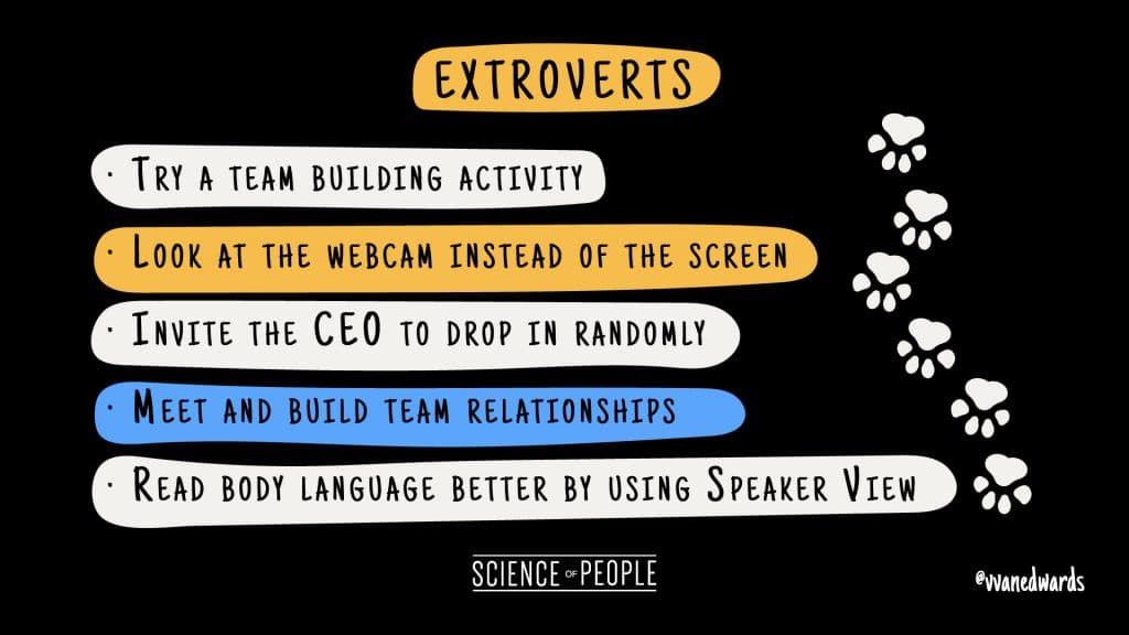 Tips for Extroverts to combat Zoom fatigue