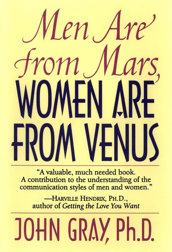 Men are From Mars Women are From Venus book cover