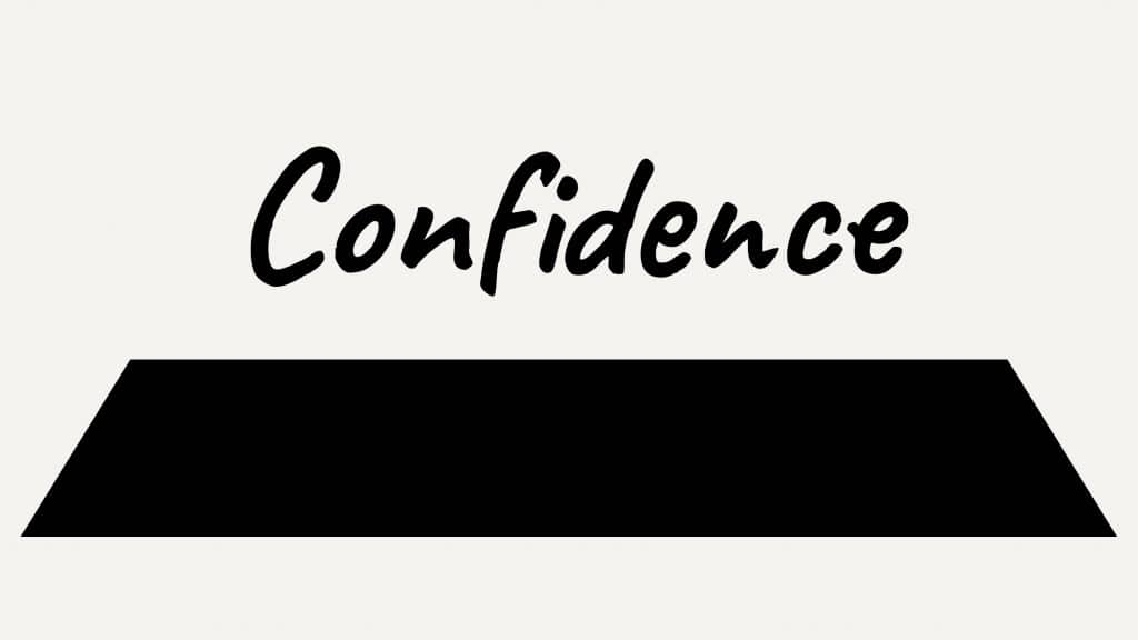 Confidence, the lowest part of the pyramid