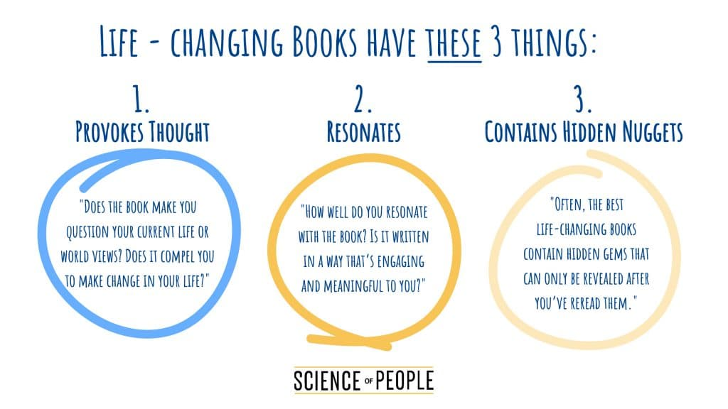 Life-changing books have 3 components.