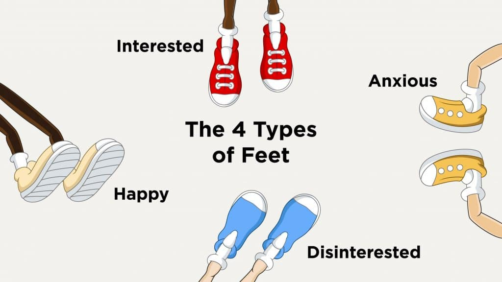 The 4 Types of Feet Body Language