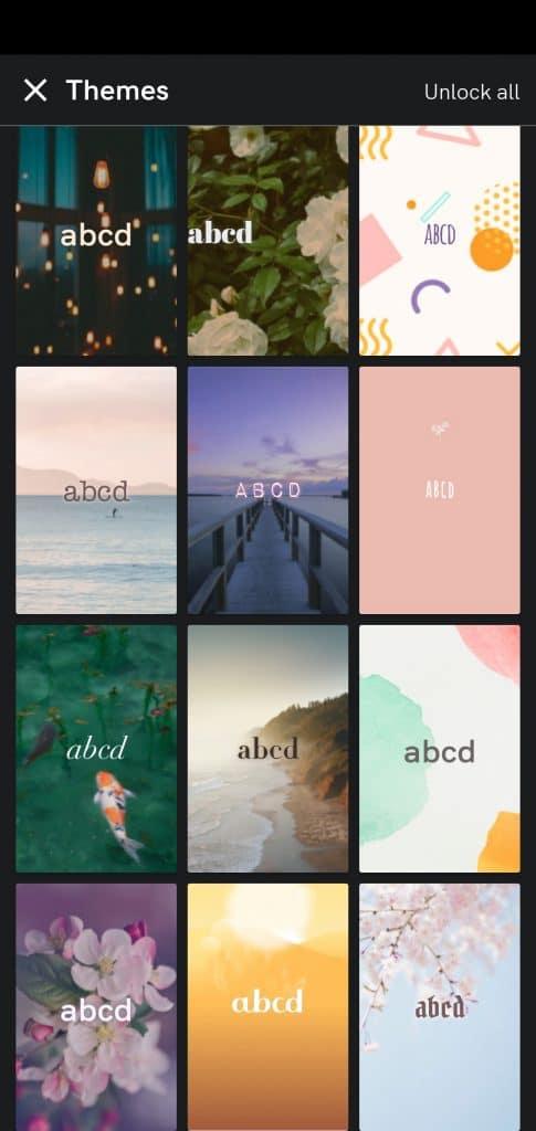 I am positive affirmation app's backgrounds